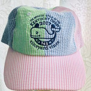 Men's Vineyard Vines Kentucky Derby Seersucker Hat